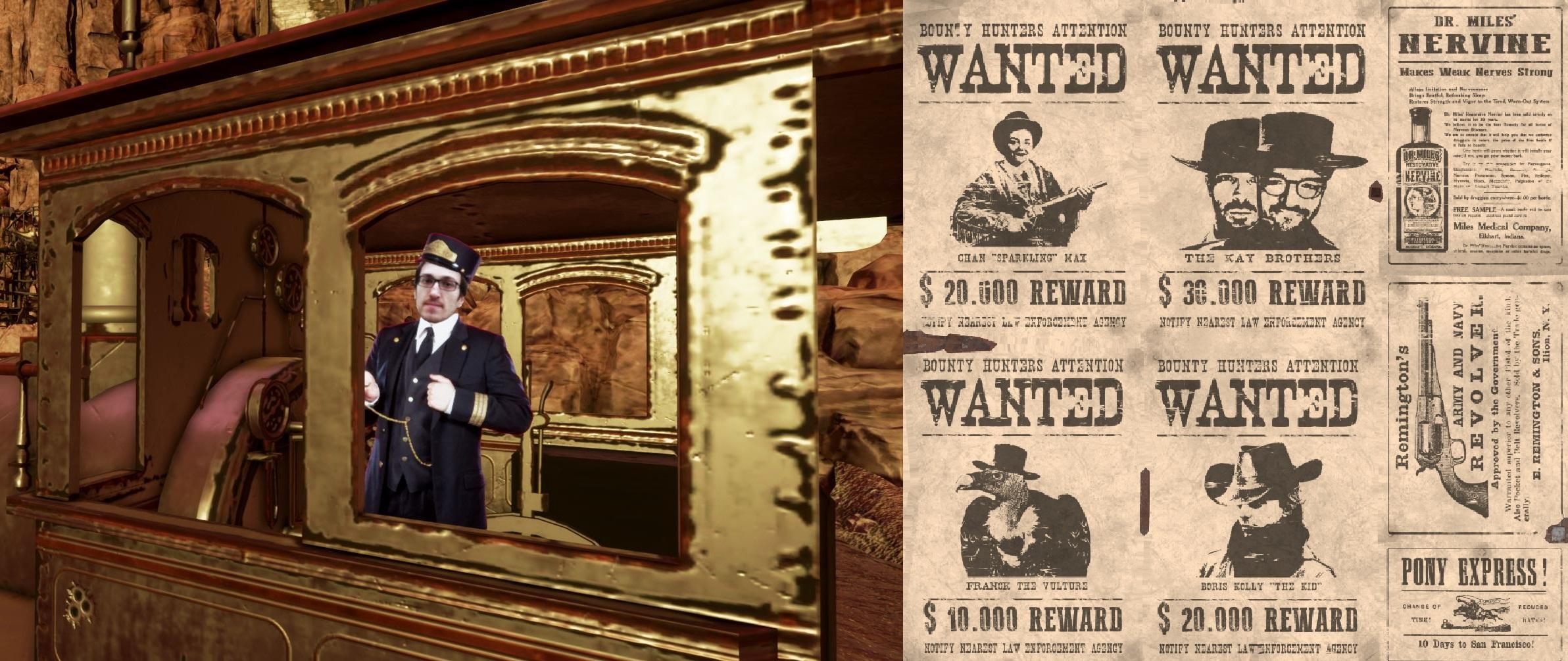 Easter egg du studio de développement dans la mission 2 Virtual Room dans le monde Western