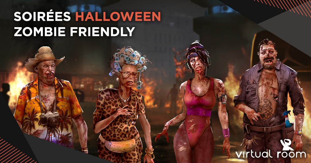 photo soirée Halloween zombie friendly
